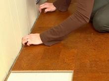 Položení korkové podlahy, cena práce za m2