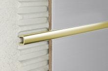 Lišta do obkladů dekorační dělící AL eloxovaný zlatý 14 mm, 2,7 m