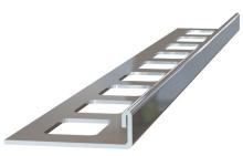 Ukončovací L lišta nerez kartáčovaná 10mm 2,5m