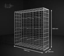 Gabionový koš 100x100x30, velikost oka 5x10cm