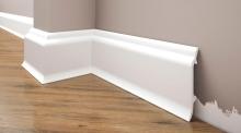 Cezar Elegance podlahová soklová lišta 83x19 mm 2,44 m bílá