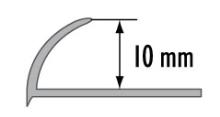Obloučková ukončovací lišta otevřená Cezar pvc černá 10mm 2,5m