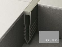 Šípová dilatační lišta do betonu Profilpas Projoint NF plastová šedý kámen 45mm 2,7m