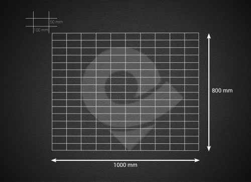 Gabionová síť 100x80cm, velikost oka 5x10cm, pr. drátu 4mm