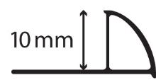 Ukončovacíl išta obloučková pvc tmavě šedá 10mm 2,5m