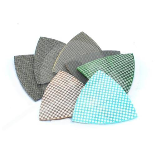 Trojúhelníkové diamantové elektrolytické leštící podložky