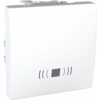 Ovládač tlačítkový se symbolem zvonek Unica, 2 moduly, bílý