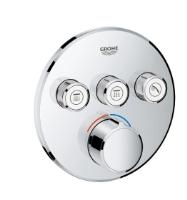 Podomítková kulatá baterie pod omítku se 3 výstupy chrom Grohe SmartControl