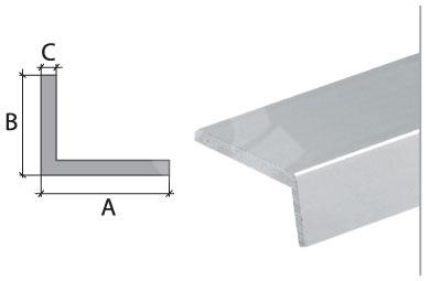 Vingl Cezar eloxovaný hliník stříbrný 20x10x2mm 2m