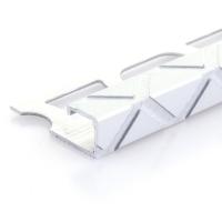 Čtvercový ukončovací profil Profilpas elox platina vzor trojúhelník kartáčovaný 10mm 2,7m