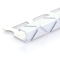 Čtvercový ukončovací profil Profilpas elox platina vzor trojúhelník kartáčovaný 12,5mm 2,7m
