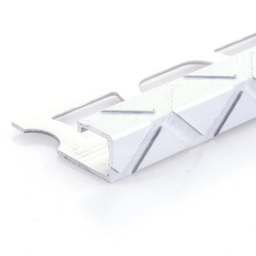 Čtvercový ukončovací profil Profilpas elox platina vz.trojuhelník kartáčovaný 11mm 2,7m