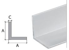 Vingl Cezar eloxovaný hliník stříbrný 20x20x1,5mm 2m