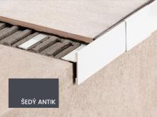 Balkonová T lišta bez okapničky Profilpas Protec CPEV hliník šedý antik 45x15x2,7m