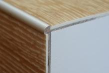 Schodová hrana pro vinylové podlahy do 3mm Profil Team 38x25mm 2,7m stříbrná