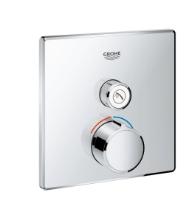 Podomítková čtvercová baterie bez termostatu s 1 výstupem chrom Grohe SmartControl