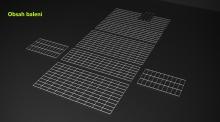 Gabionový koš 100x50x30, velikost oka 5x10cm