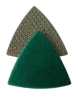 Brusný a leštící trojúhelník se suchým zipem pro leštění žuly, mramoru, betonu a dalších typů kamenů