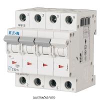 Modulový čtyřfázový jistič PL7-4/B/3N 10kA Eaton