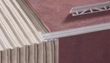 Schodová lišta na dlažbu T profil Cezar hliník přírodní 15mm 2,5m