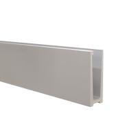 Hliníkový kotvící profil s vrchním kotvením pro sklo 12-22 mm, 2500 mm