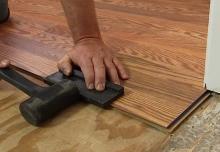 Položení dřevěné plovoucí podlahy, cena práce za m2