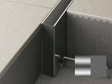 Hloubková dilatace s kotvou do betonu Profilpas Projoint STA šedá guma přírodní hliník 10x30mm 2,5m