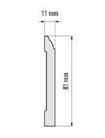 Cezar Elegance podlahová soklová lišta 81x11 mm 2,44 m bílá