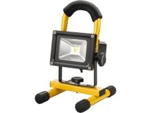 Halogenový reflektor LED 10W nabíjecí s podstavcem žlutý